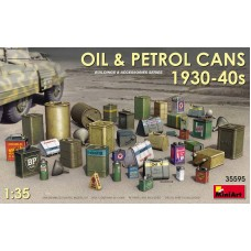 Oil & Petrol Cans 1930s-1940s 1/35