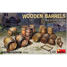 Wooden Barrels, Medium Size 1/35