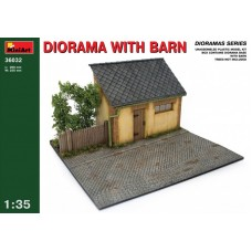 Diorama with Barn 1/35