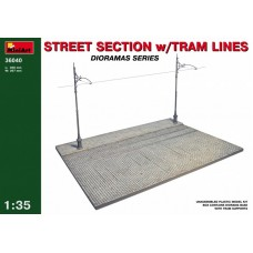 Street Section with Tram Line 1/35