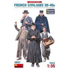 French Civilians '30-'40s. Resin Heads 1/35
