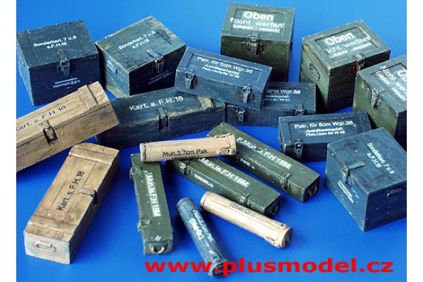 Ammunition containers, Germany - WWII, 1/35
