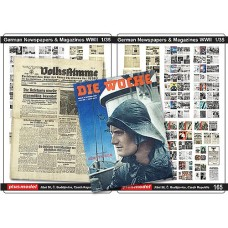 German Newspapers and Magazines, WWII, 1/35