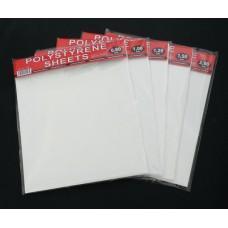 Styrene Sheets, 0.2 mm, 22 x 19 cm, 2 pcs