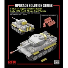UPGRADE SOLUTION for Tiger I Initial Production Early 1943 North African Front/Tunisia 1/35