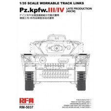 Pz.Kpfw.III/IV Late Production (40cm) Tracks 1/35