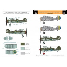 SBS D48005 Gloster Gladiator in Swedish Service VOL.I 1/48