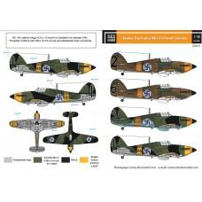 SBS D48011 Hawker Hurricane Mk. I in Finnish Service WW II 1/48
