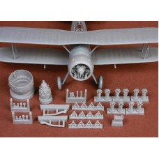 SBS 48057 Gloster Gladiator Mk.I/Mk.II engine & cowling for Merit kit 1/48