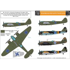 SBS D72007 Bristol Blenheim Mk. I-II. in Finnish Service WW II 1/72