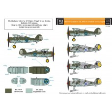 SBS D72006 Gloster Gladiator in Swedish Service VOL.II 1/72