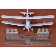 SBS 72048 De Havilland DH-82 Tiger Moth rigging & wheel set for Airfix kit 1/72