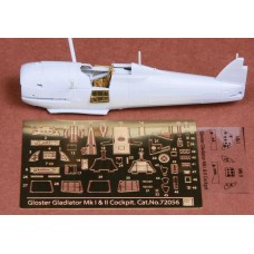 SBS 72056 Gloster Gladiator Mk.I/Mk.II cockpit set for Airfix kit 1/72