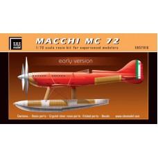 SBS 7016 Macchi MC 72 'Early Version' 1/72