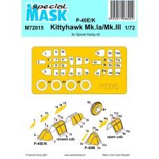 P-40E/K/Kittyhawk Mk.Ia/Mk.III Mask 1/72