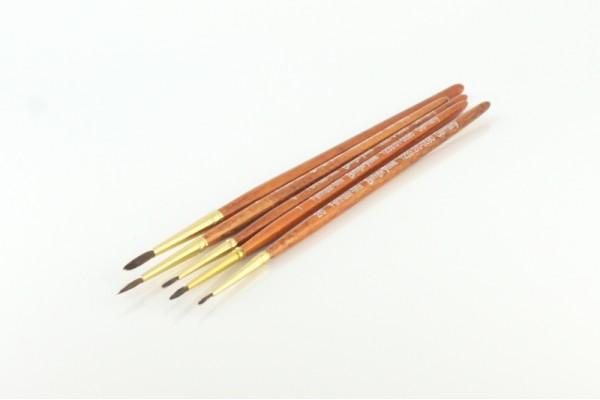 Synthetic Brush Set: 2/0, 0 ,1 ,2 ,3