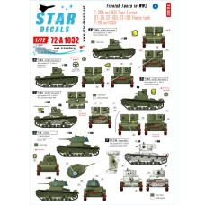 Star Decals 72-A1032 Finnish Tanks in WW2 #4 1/72