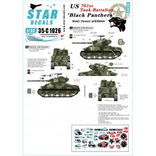 Star Decals 35-C1026 Black Panthers 1/35