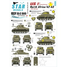 Star Decals 35-C1045 US 1st Armored Division North Africa '42-43 1/35