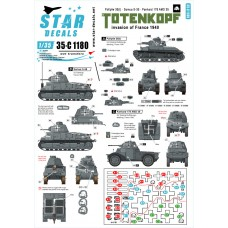 Star Decals 35-C1180 SS-Totenkopf Invasion of France 1940 1/35