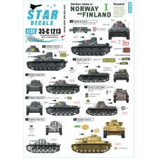 Star Decals 35-C1213 German tanks in Norway & Finland #I 1/35
