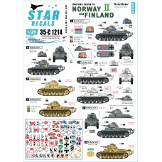 Star Decals 35-C1214 German tanks in Norway & Finland #II 1/35