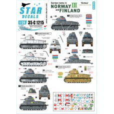 Star Decals 35-C1215 German tanks in Norway & Finland #III 1/35