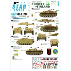 Star Decals 35-C1216 German tanks in Norway & Finland #IV 1/35