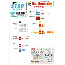 Star Decals 35-C1217 Oil Drum Markings 1/35