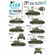 Star Decals 35-C1223 Red Army T-34 m/1943 1/35