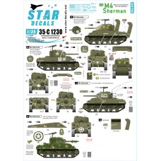Star Decals 35-C1230 US M4 Sherman 1/35