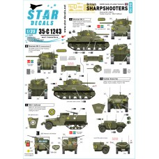 Star Decals 35-C1243 British Sharpshooters 1/35