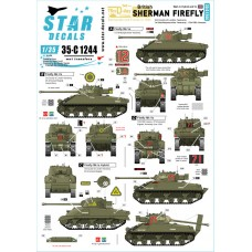 Star Decals 35-C1244 British Sherman Firefly 1/35