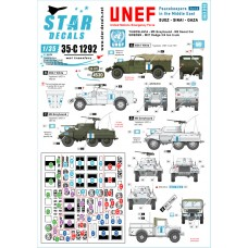 Star Decals 35-C1292 Peacekeepers in the Middle East. 1/35