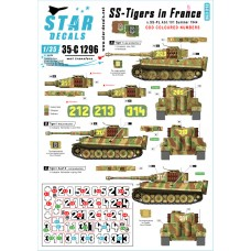 Star Decals 35-C1296 SS-Tigers in France # 5 1/35