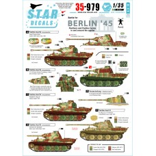 Star Decals 35-979 Berlin #3 Panthers and Panther turms in and around the capital 1/35