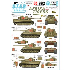 Star Decals 35-992 Afrika Tigers #1 1/35