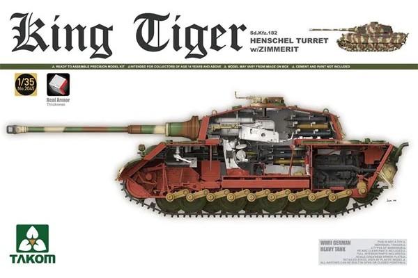 King Tiger Sd.Kfz.182 Henschel Turret w/Zimmerit FULL INTERIOR Special Edition New Tracks 1/35