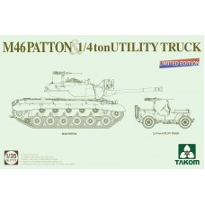 M46 Patton & Willys Jeep 1/4 ton Utility Truck  1/35
