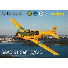 SAAB 91 Safir B/C/D Swedish Air Force primary trainer & liasion aircraft 1/48