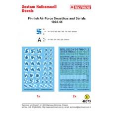 Techmod 48073 Finnish Air Force Swastikas and Serials 1934-44 1/48