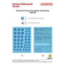 Techmod 48074 Finnish Air Force Swastikas and Serials 1944-45 1/48