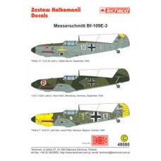 Techmod 48080 Messerschmitt Bf 109E-3 1/48