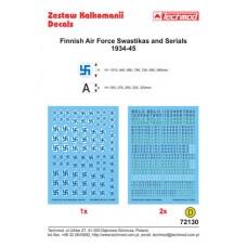 Techmod 72130 Finnish Air Force Swastikas and Serials 1934-45 1/72