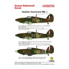 Techmod 72006 Hawker Hurricane Mk I Decals 1/72
