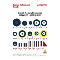 Techmod 72023 British National Insignias - Hawker Hurricane decals 1/72