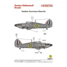 Techmod 72071 Hurricane Stencils Decals 1/72