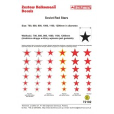 Techmod 72102 Soviet Red Stars decals 1/72