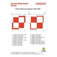 Techmod 72162 Polish National Insignia 1920-1939 decals 1/72