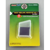 8 pce Drill Bit Set 0.3-1.0mm